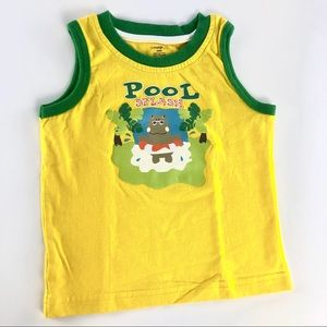 "Yellow ""Pool splash"" top"